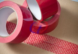 Carton sealing security tape without Surface Printing